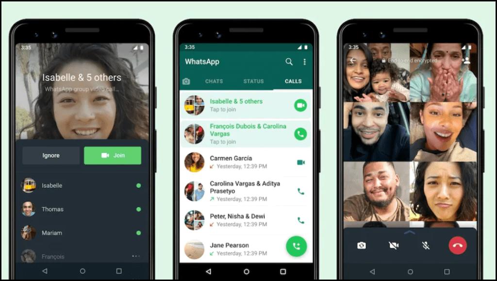 WhatsApp Joinable Group Call