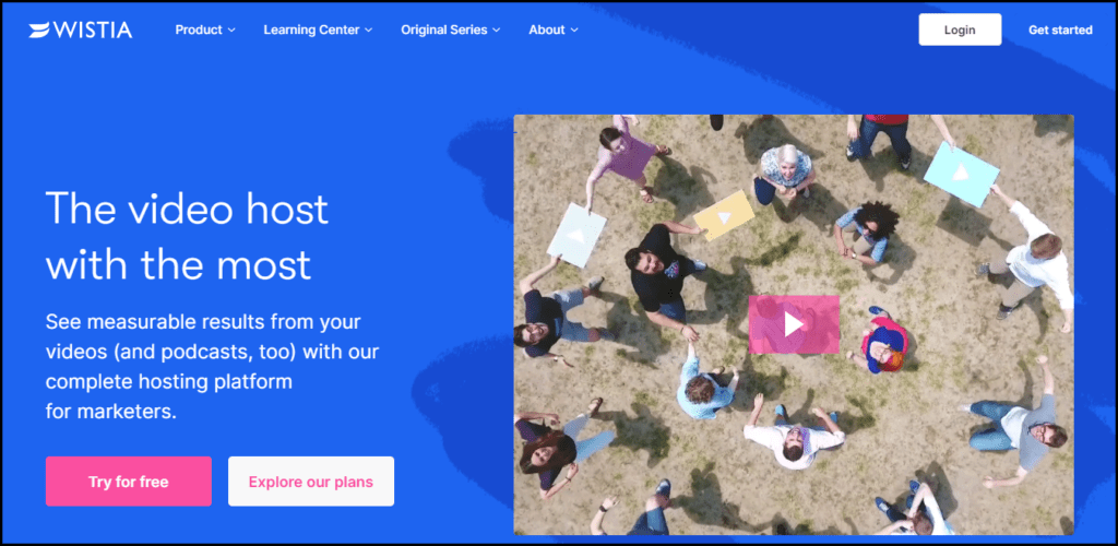 Wistia Homepage